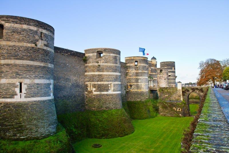 Castle της Angers, Γαλλία στοκ φωτογραφία με δικαίωμα ελεύθερης χρήσης