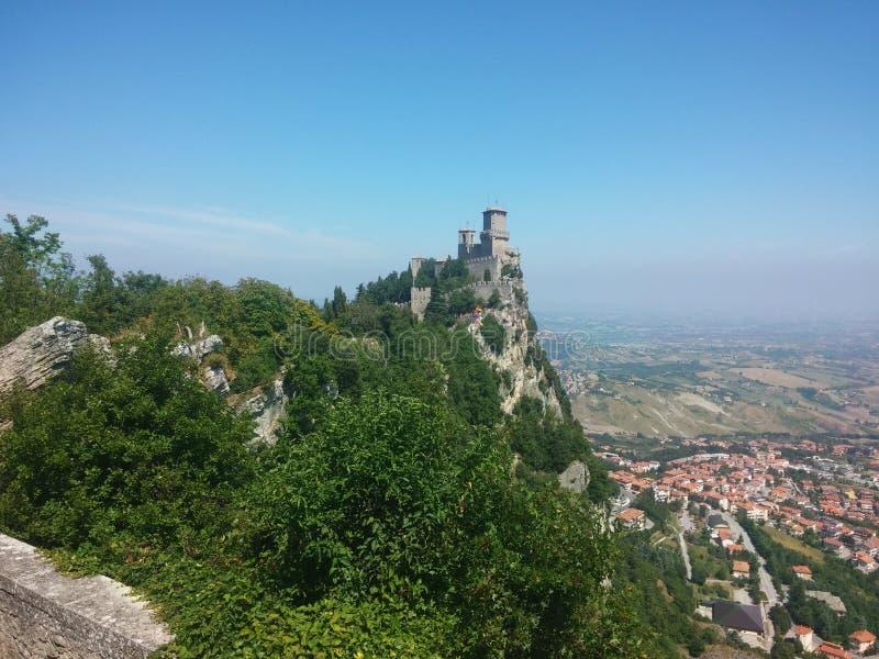 Castle του Άγιου Μαρίνου Ιταλία στοκ εικόνες