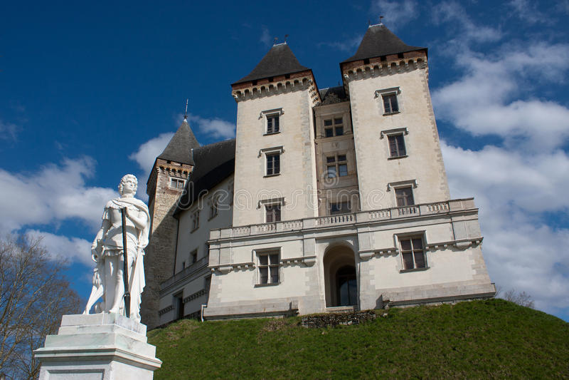 Castle του Πάου στοκ εικόνα