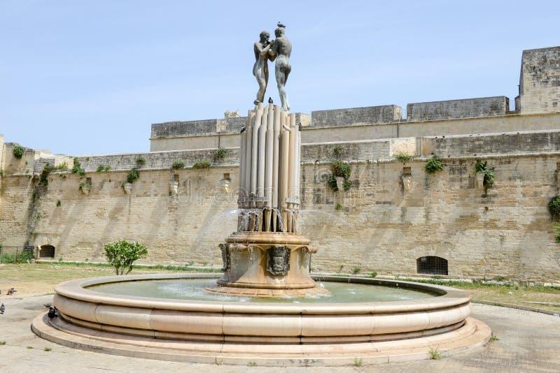 Castle του Charles Β σε Lecce στην Πούλια, Ιταλία στοκ φωτογραφίες