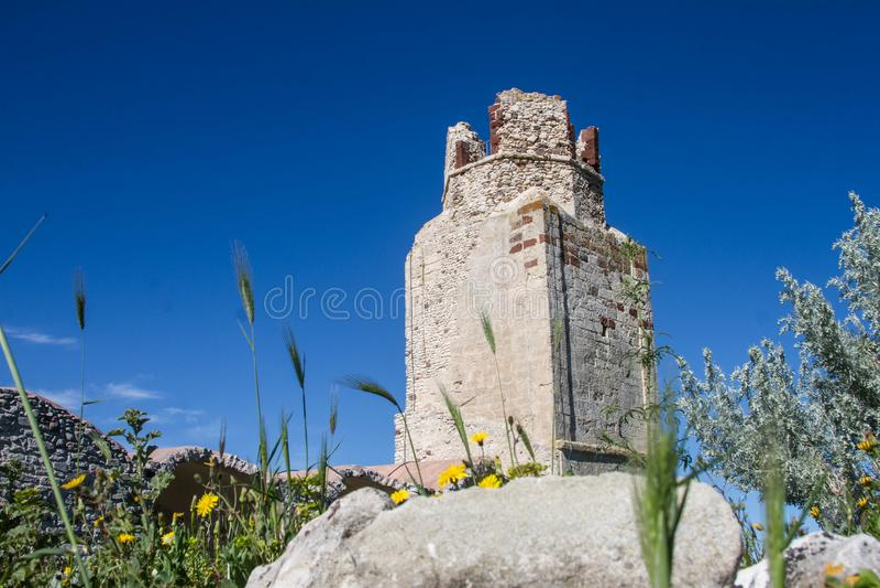 Castle του doria, chiaramonti, σαρδηνιακό castel, Sassari στοκ εικόνα με δικαίωμα ελεύθερης χρήσης