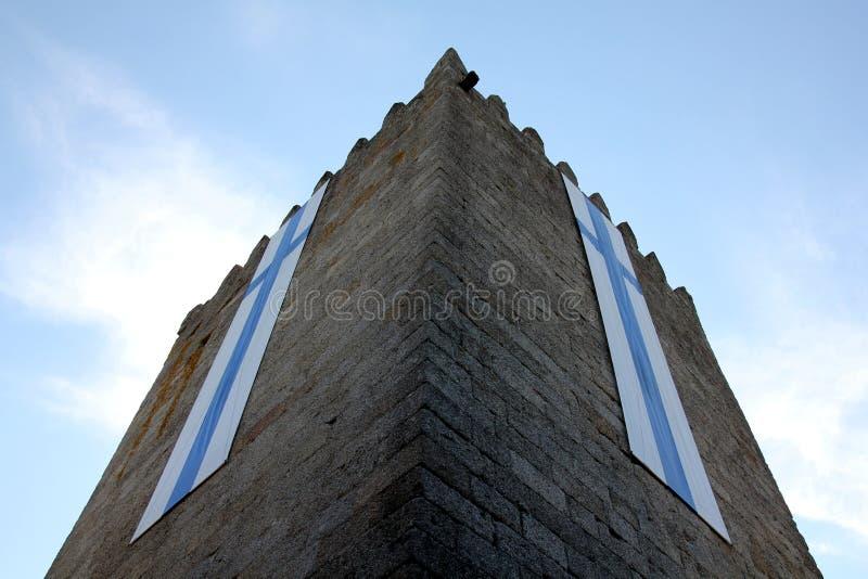 Castle του Guimaraes στην Πορτογαλία στοκ φωτογραφία με δικαίωμα ελεύθερης χρήσης