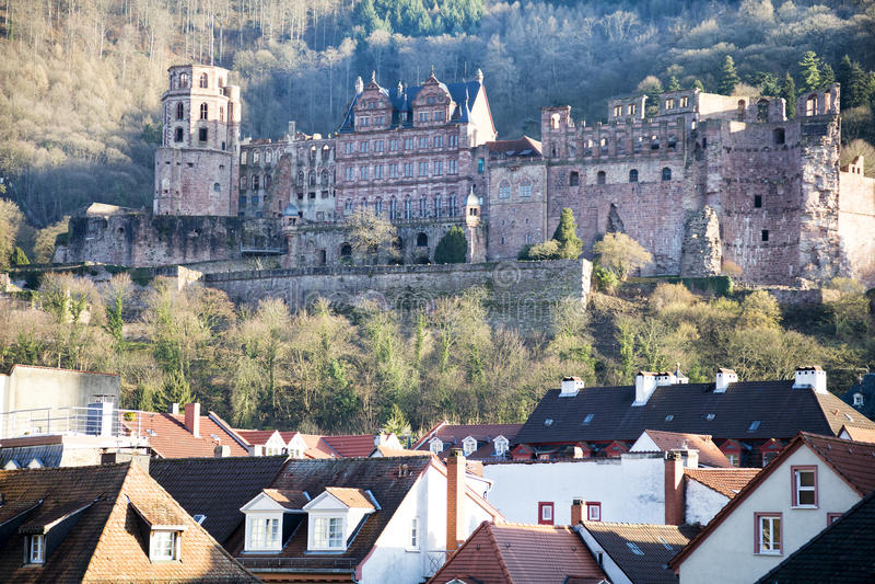 Castle Χαϋδελβέργη, Baden Wuerttemberg, Γερμανία στοκ φωτογραφίες