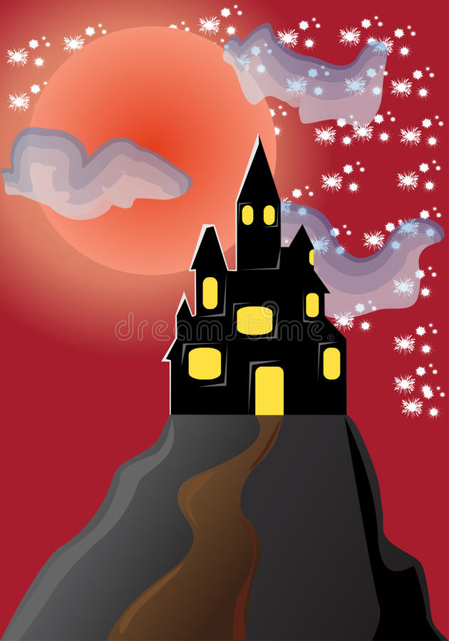 Download Castle stock vector. Image of turret, midnight, night - 10858299