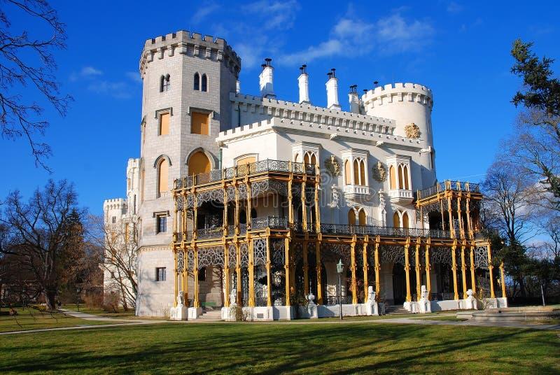 Castle. Hluboka nad Vltavou, Czech Republic royalty free stock photography