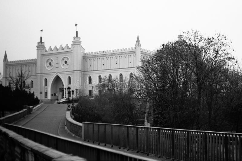 The Castle. Nic view on the old Castle in Lublin, Poland. Photo was taken by camera Moskva 5, Fomapan 100/120 classic grainy film and scanned royalty free stock photography