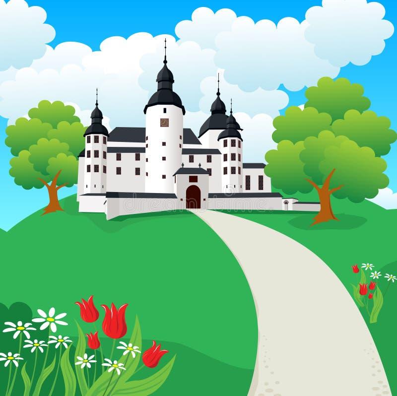 A Castle. A medieval castle done in Illustrator stock illustration