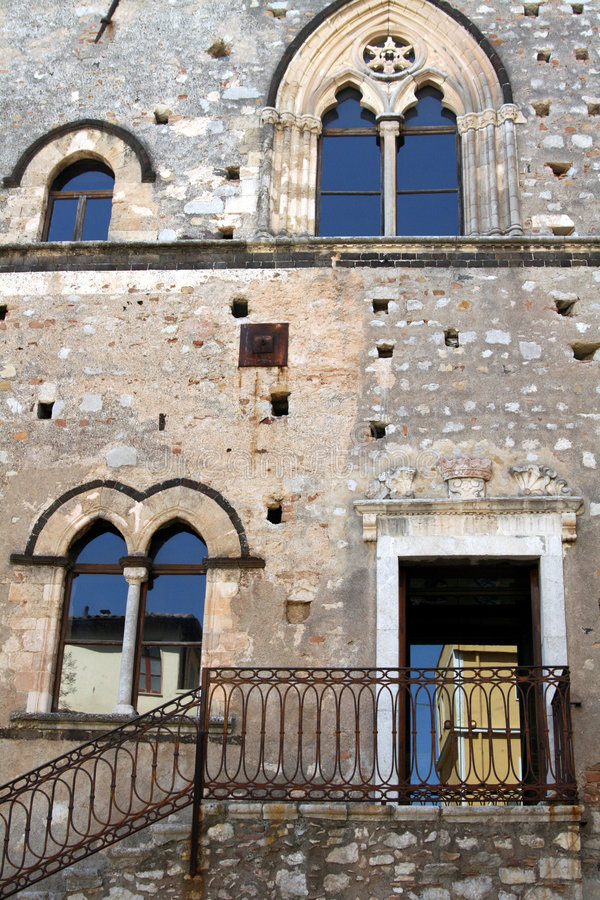 Download Castle stock photo. Image of sicily, entrance, window - 7722770