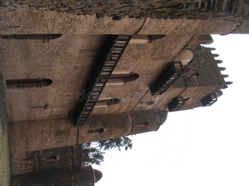 Castle. In Ethiopia royalty free stock images