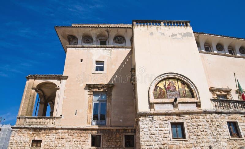 Castle of Acquaviva delle Fonti. Puglia. Italy. Perspective of the De Mari Palace of Acquaviva delle Fonti. Puglia. Italy royalty free stock photos