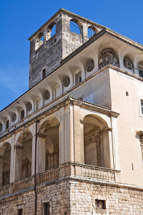 Castle of Acquaviva delle Fonti. Puglia. Italy. Perspective of the De Mari Palace of Acquaviva delle Fonti. Puglia. Italy stock photography