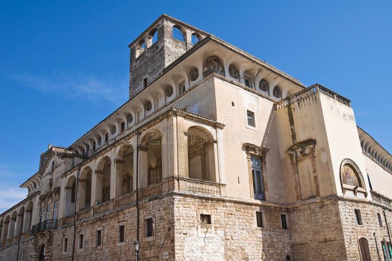 Castle of Acquaviva delle Fonti. Puglia. Italy. Perspective of the De Mari Palace of Acquaviva delle Fonti. Puglia. Italy stock images