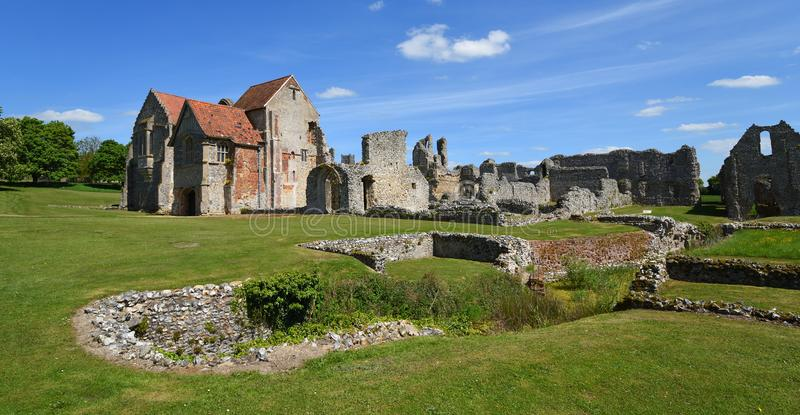 The remains of Castle Acre Priory Norfolk stock photography