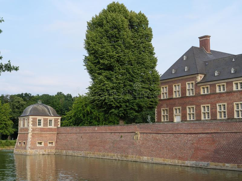 The castle of ahaus in germany. The Castle of Ahaus in the German muensterland stock photography