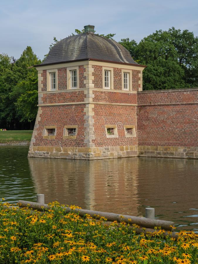 The castle of ahaus in germany. The Castle of Ahaus in the German muensterland stock image