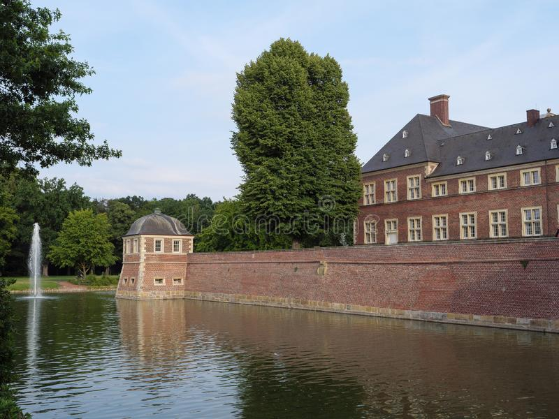 The castle of ahaus in germany. The Castle of Ahaus in the German muensterland stock photos