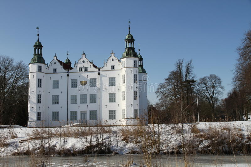 Castle of Ahrensburg, Germany, Schleswig-Holstein. The Ahrensburg Castle is the landmark of the city of Ahrensburg and shapes for over 400 years the cityscape of royalty free stock photos