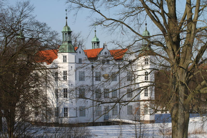 Castle of Ahrensburg, Germany, Schleswig-Holstein. The Ahrensburg Castle is the landmark of the city of Ahrensburg and shapes for over 400 years the cityscape of royalty free stock image