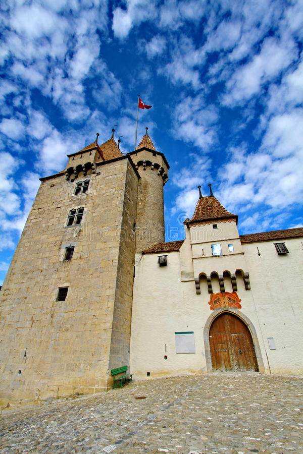 Castle Aigle, Switzerland stock images