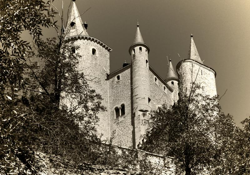 Castle Alcazar de Segovia, Spain stock image