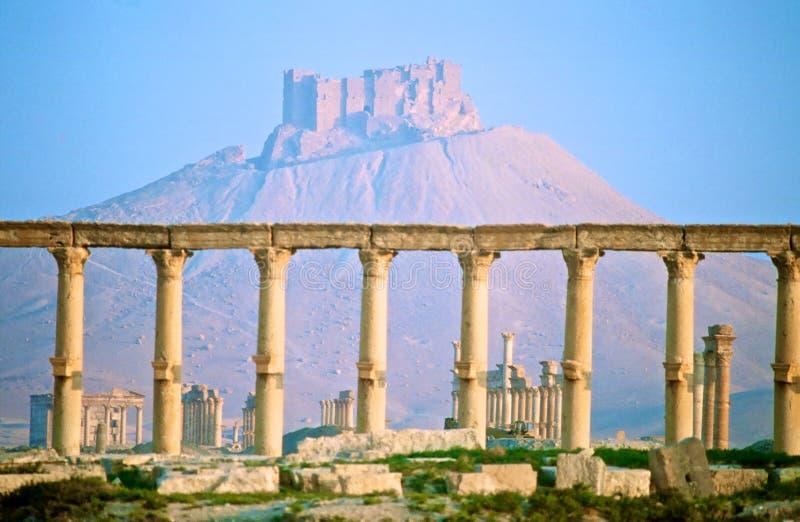 Castle Alhsn, Ḥisn Al-AkrÄ  δ στοκ φωτογραφία με δικαίωμα ελεύθερης χρήσης