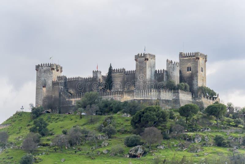 Castle Almodovar del Ρίο στην Κόρδοβα, Ισπανία στοκ εικόνα με δικαίωμα ελεύθερης χρήσης