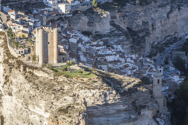 Castle of Almohad origin of the century XII, take in Alcala of t. Alcala del Jucar, Spain - October 29, 2016: Castle of Almohad origin of the century XII, take stock photo