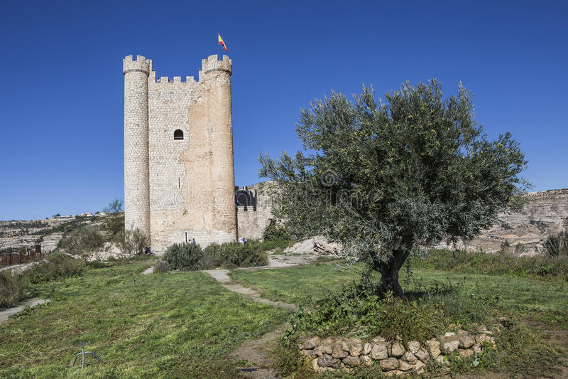 Castle of Almohad origin of the century XII, take in Alcala of t stock images