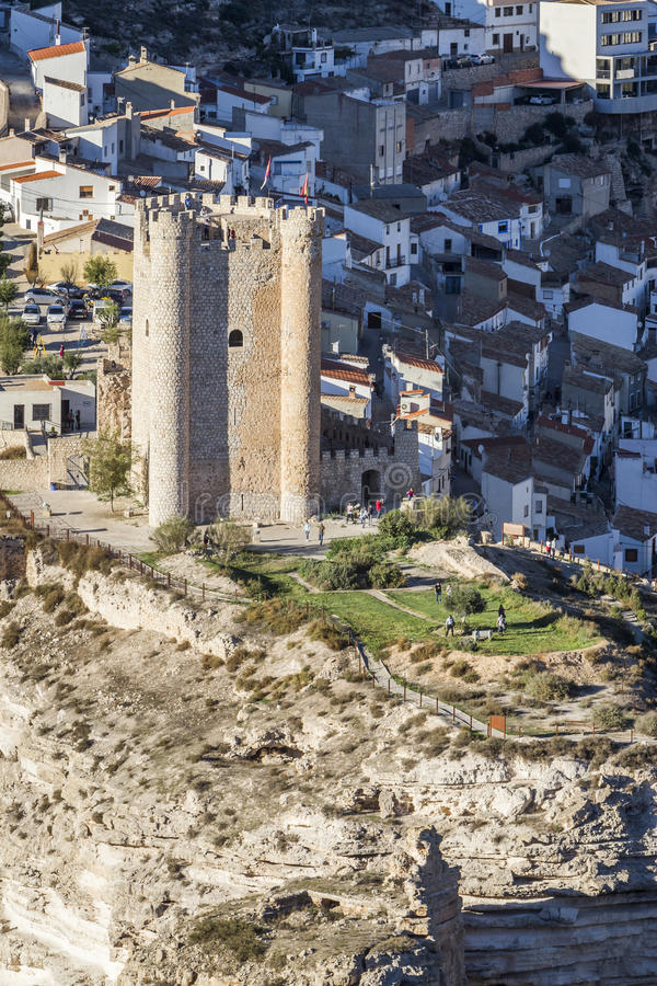 Castle of Almohad origin of the century XII, take in Alcala of t. Alcala del Jucar, Spain - October 29, 2016: Castle of Almohad origin of the century XII, take stock images