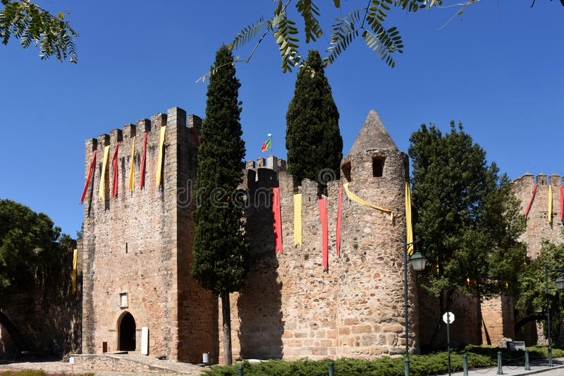 Castle of Alter Do Chao, Beiras region,. Portugal royalty free stock photos