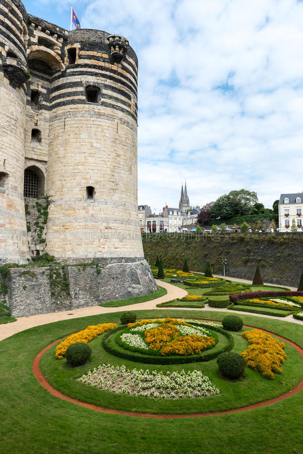 Castle of Angers (France) stock images
