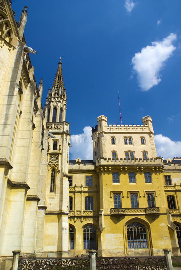 Castle architecture background royalty free stock photos