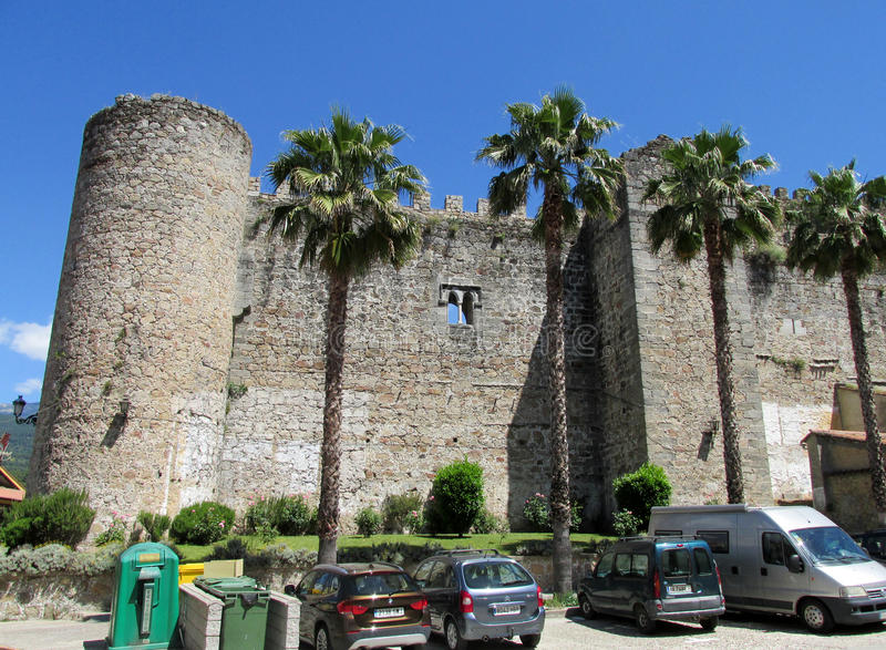 Castle in Arenas de San Pedro royalty free stock photography