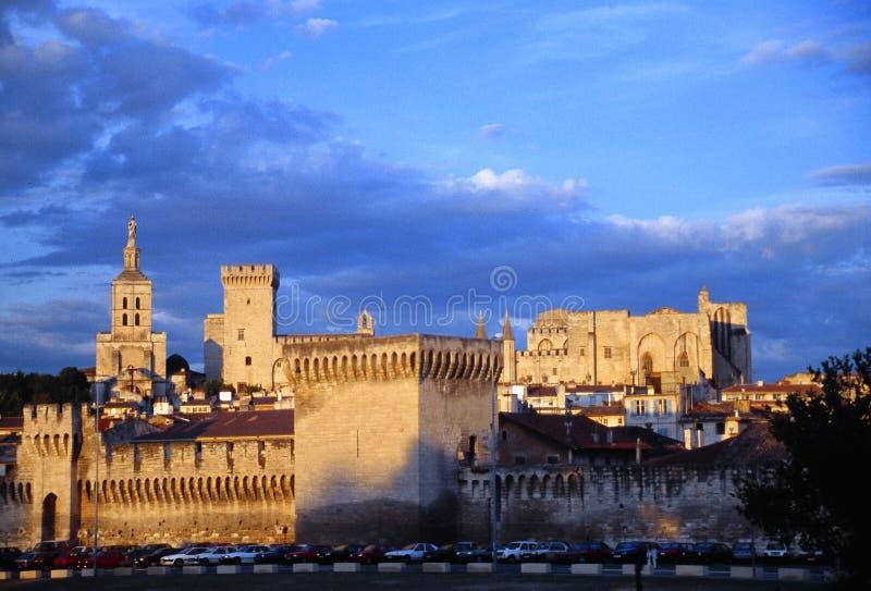 The castle of Avignon stock photos