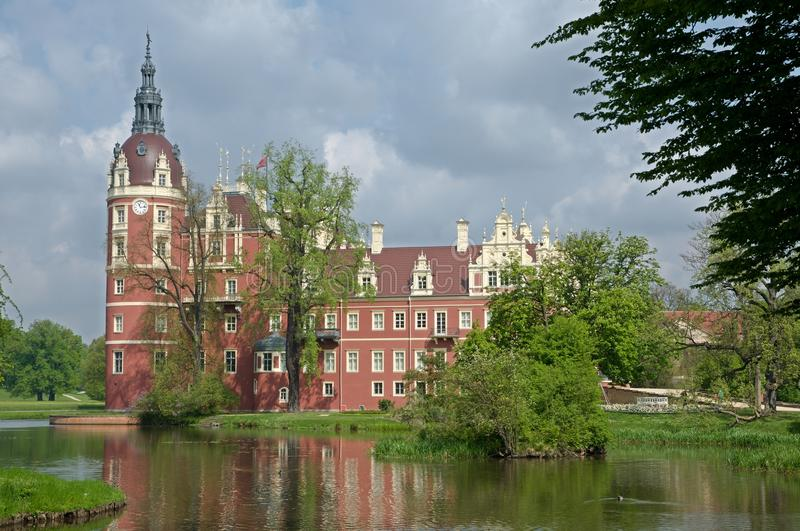 Castle Bad Muskau,Germany. Castle and park of Prince Pueckler in Bad Muskau in Saxony, Germany. Muskauer Park is part of UNESCO World Heritage Site. It is royalty free stock photo