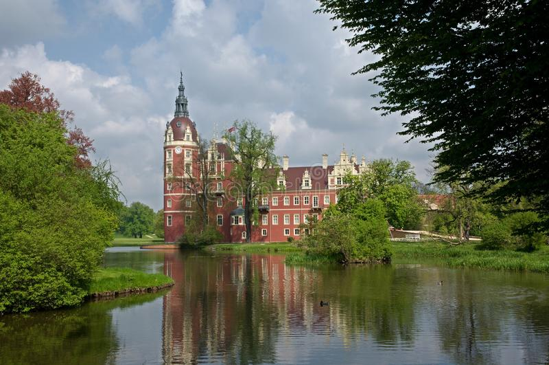 Castle Bad Muskau,Germany. Castle and park of Prince Pueckler in Bad Muskau in Saxony, Germany. Muskauer Park is part of UNESCO World Heritage Site. It is stock photography