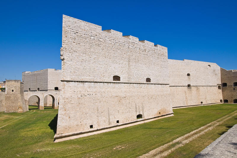 Castle of Barletta. Puglia. Italy. Perspective of the Castle of Barletta. Puglia. Italy stock photos