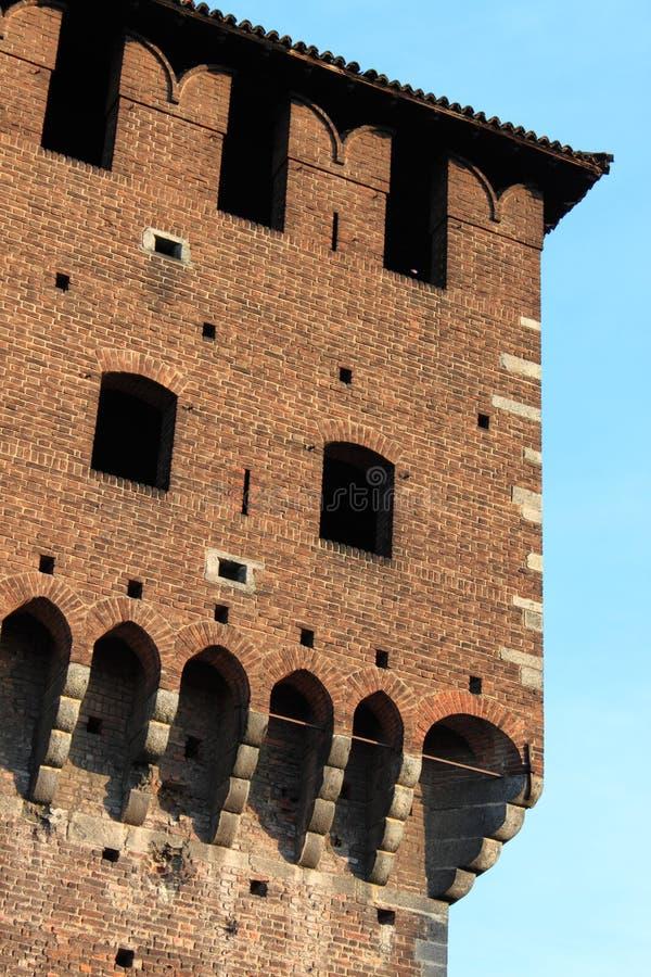 Castle battlements royalty free stock photos