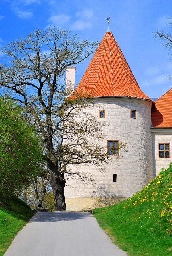 Castle of Bauska, Latvia. The great tower of castle of Bauska, Latvia stock photos