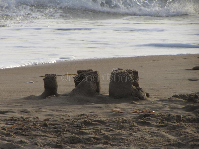 Castle on the beach royalty free stock photography