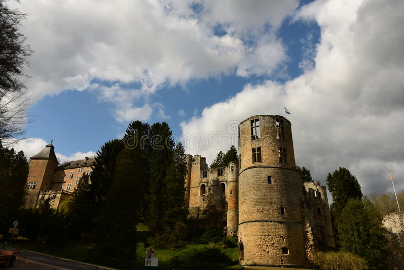 Castle of Beaufort, Luxembourg royalty free stock photography