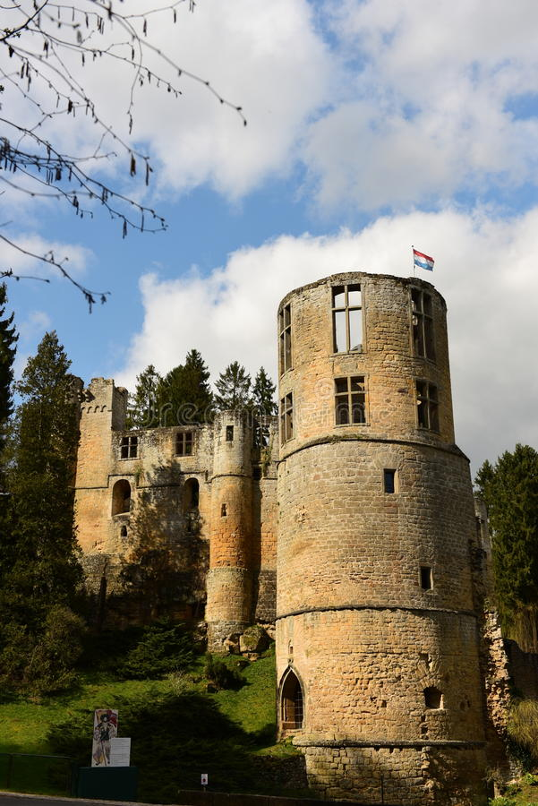 Castle of Beaufort, Luxembourg royalty free stock image