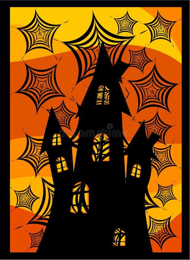 Download Castle behind spider webs stock vector. Image of frame - 16778698