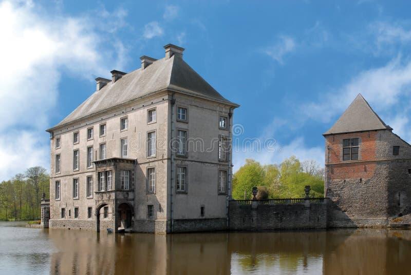 Castle in belgium stock photo