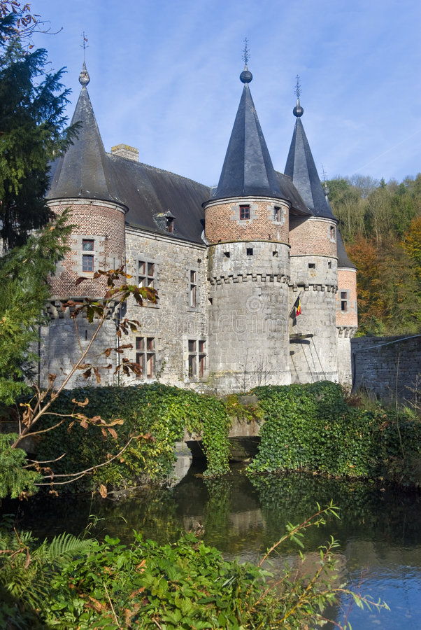 Castle in Belgium stock image