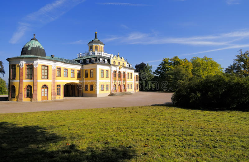 Castle Belvedere in Weimar, Thuringia, Germany. Historical Castle Belvedere in Weimar, Thuringia, Germany royalty free stock image