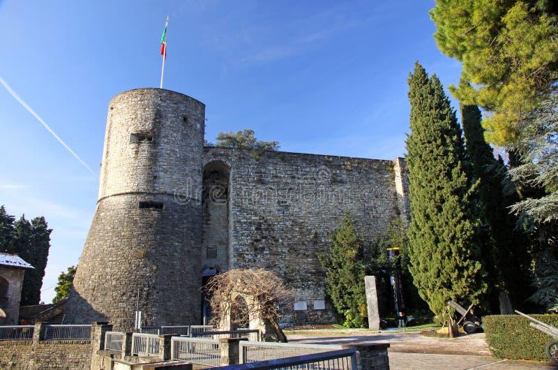Castle in Bergamo. Castle (La Rocca) in Bergamo, Italy stock image