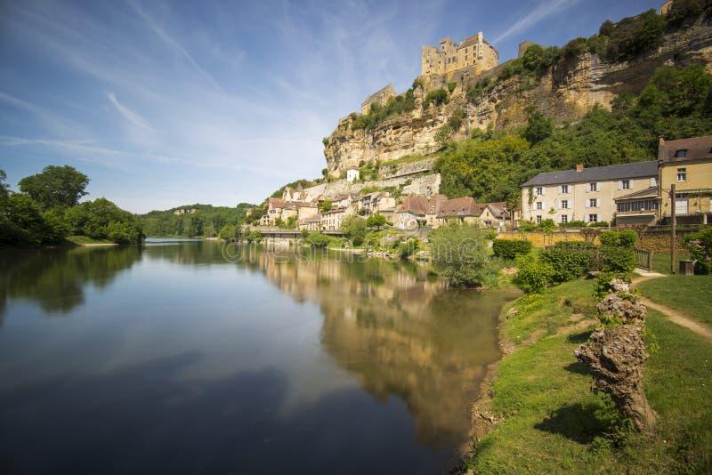 Castle Beynac στοκ φωτογραφία