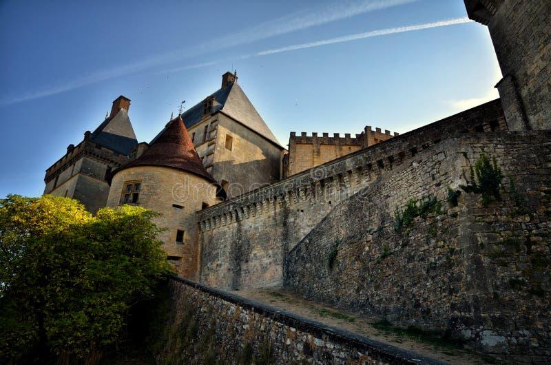 Castle Biron, Dordogne, Γαλλία στοκ εικόνες