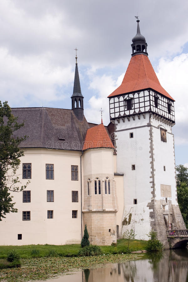 Castle Blatna in Bohemia. Tower of the castle stock image